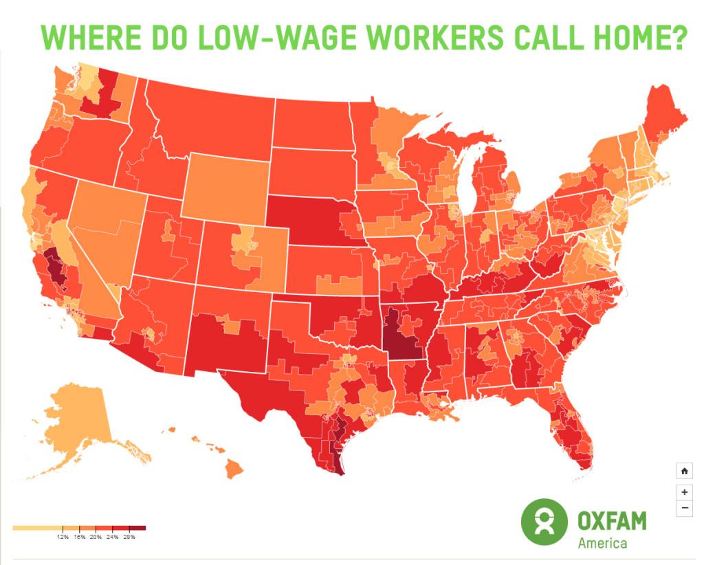 Oxfam Minimum Wage Map